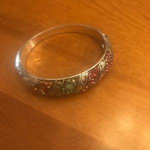 Brighton silver multicolored bangle bracelet